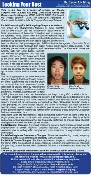 Facial Contouring (Facial-Sculpting) Surgery for Asians