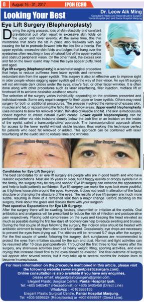 Eye Lift Surgery (Blepharoplasty)